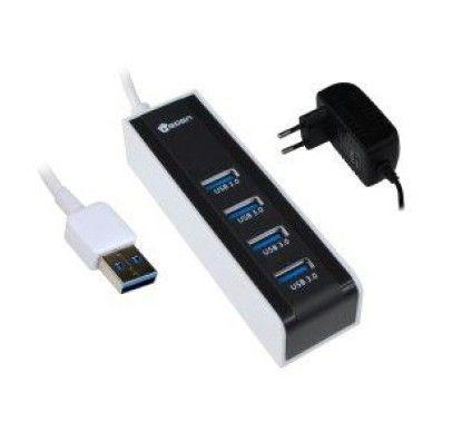 Heden HUBUSB3E4A Hub USB 3.0 externe 4 ports (Aluminium)