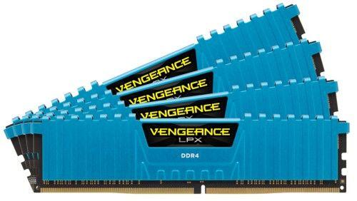 Corsair Vengeance LPX Blue DDR4-2666 CL16 32Go (4x8Go) - CMK32GX4M4A2666C16B