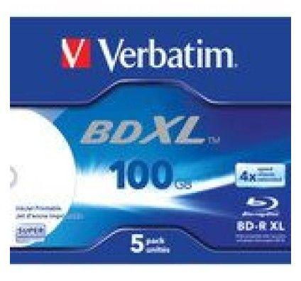 Verbatim BD-R XL 100 Go vitesse 4x imprimable (par 5, boite)