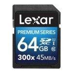 Lexar Premium SDXC 64 Go 300x (45Mo/s)