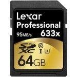 Lexar Professional SDXC 64 Go 633x (95Mo/s) - LSD64GCBEU633
