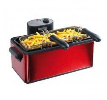 Domoclip Maxi friteuse 2 paniers 6 L - rouge DOC149