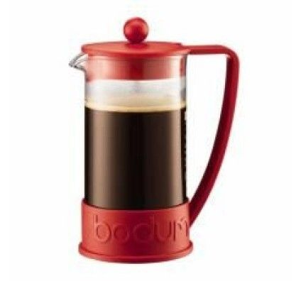 Bodum Brazil - Cafetière à piston 8 tasses 1 L (rouge)
