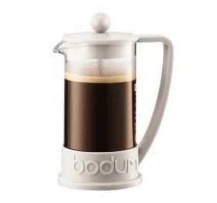 Bodum Brazil - Cafetière à piston 3 tasses 0.35 L (blanc crème)