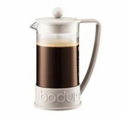 Bodum Brazil - Cafetière à piston 8 tasses 1 L (blanc)