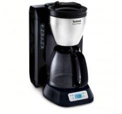 Tefal Cafetière Express Programmable 1200 W 1.25 L Inox/Noir - CM392811