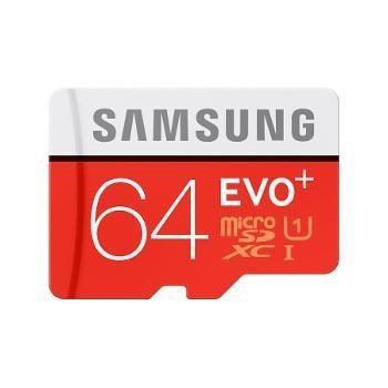 Samsung Evo Plus SDXC 64 Go (80Mo/s) + adaptateur SD