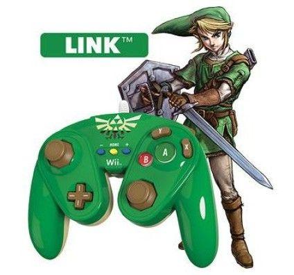 PDP Manette Fight Pad PDP pour Wii U - Modèle Link