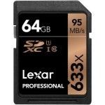 Lexar Professional SDXC 64 Go 633x (95Mo/s) - LSD64GCB1EU633