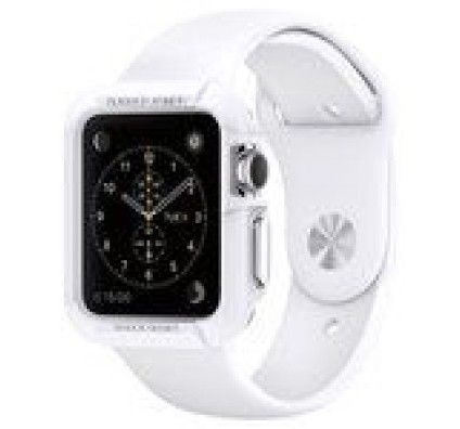 Spigen Apple Watch Case Rugged Armor Blanc (38 mm)
