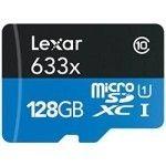 Lexar MicroSDXC 128 Go 633x (45Mo/s) + Adaptateur
