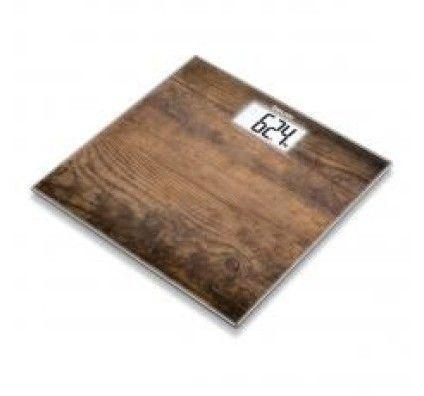 Beurer Pèse-Personne en Verre Motif Bois - GS203 Wood