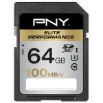 PNY Elite Performance SDXC 64 Go (100Mo/s)