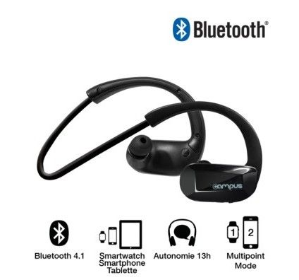 CAMPUS Ecouteurs Sport Bluetooth Cross'Fit