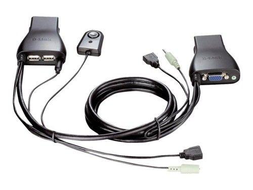 D-LINK DKVM-222 Switch KVM 2 ports USB avec fonction Audio