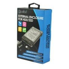 Boîtier externe 2 en 1 pour disque 2.5'' SATA USB v3.0 322-BK Noir