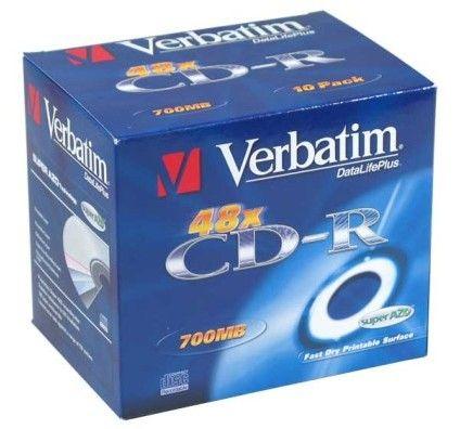 Verbatim 10 CDR 80mn certifié 48x