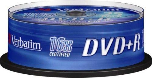 Verbatim DVD+R 4.7 Go - 16x (Spindle x25)