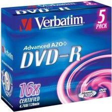 Verbatim DVD-R 4.7 Go - 16x (Boite CD x5)