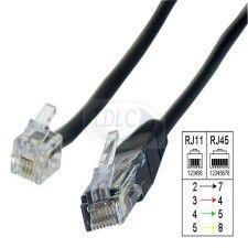 Cable RJ11 vers RJ45 - 5m