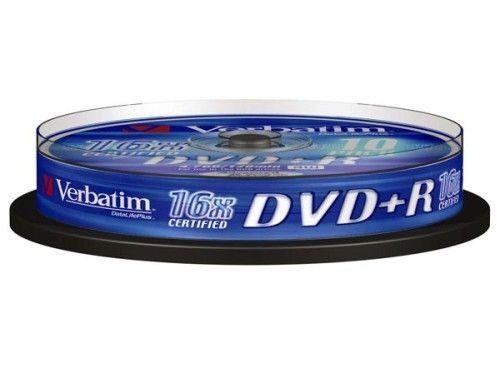 Verbatim DVD+R 4.7 Go - 16x (Spindle x10)