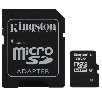 Kingston Micro SDHC 8Go Class 4