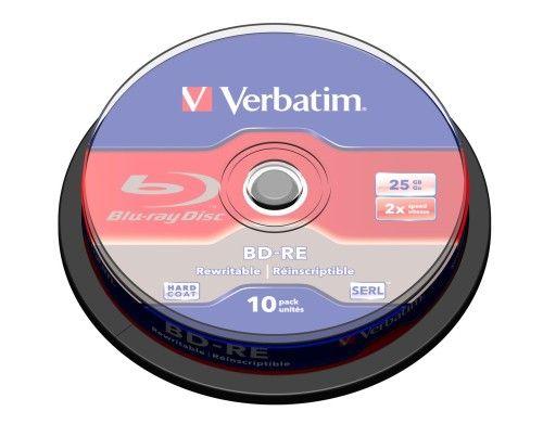 Verbatim BD-RE 25 Go 2x (par 10, spindle)