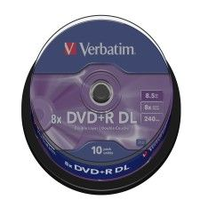 Verbatim DVD+R DL 8.5 Go - 8x (Spindle x10)