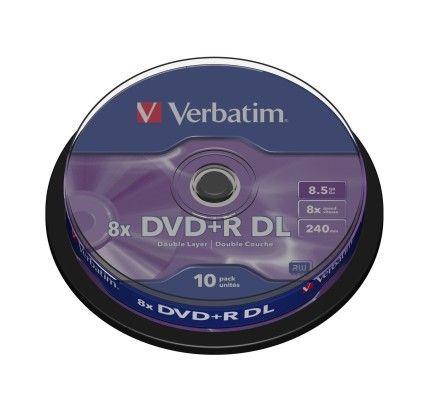 Verbatim DVD+R DL 8.5 Go - 8x (Spindle x10)