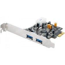 Carte contrôleur PCI-Express 1x avec 2 ports USB 3.0 (Low Profile)