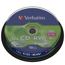 Verbatim CD-RW 12x 700Mo (Spindle x10)