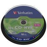 Verbatim CD-RW 12x 700Mo (Spindle x10)