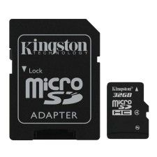 Kingston Micro SDHC 32Go Class 4 + Adaptateur SD
