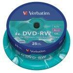 Verbatim DVD-RW 4.7 Go - 4x (Spindle x25)
