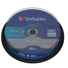 Verbatim BD-R DL 50 Go certifié 6x (pack de 10, spindle) - 43746