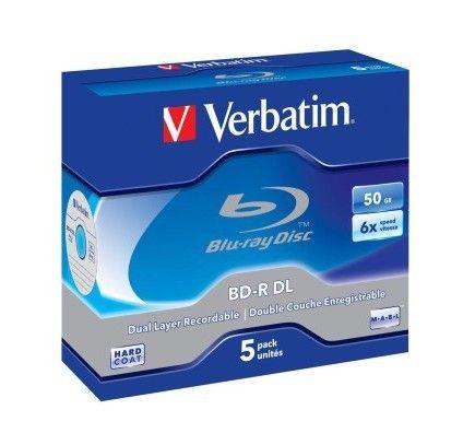 Verbatim BD-R DL 50 Go certifié 6x pack de 5