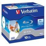 Verbatim BD-R DL 50 Go 6x imprimable (par 10, boîte)