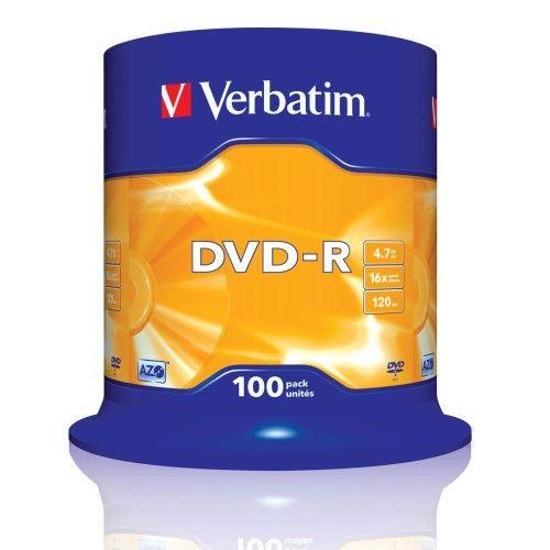 Verbatim DVD-R 4.7 Go - 16x (Spindle x100)