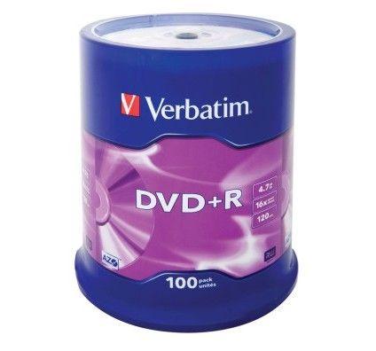 Verbatim DVD+R 4.7 Go - 16x (Spindle x100)