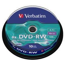 Verbatim DVD-RW 4.7 Go - 4x (Spindle x10)