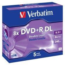 Verbatim DVD+R DL 8.5 Go - 8x (Boite CD x5)