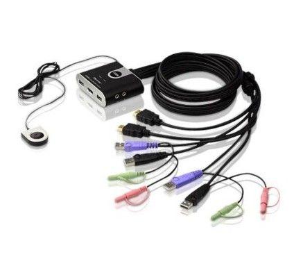 ATEN Commutateur de partage 2 PC HDMI USB Audio