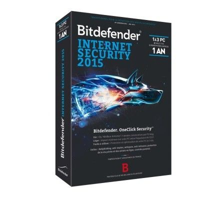 Bitdefender Internet Security 2015 - Licence 1 an 3 postes - PC