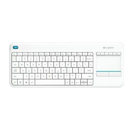 Logitech Wireless Touch Keyboard K400 Plus Blanc