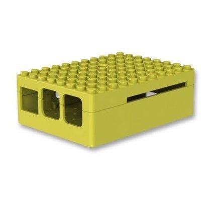 Multicomp Pi-Blox boitier pour Raspberry Pi 2 / Pi Model B+ (jaune)