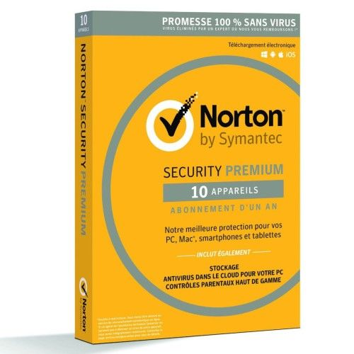 Norton Security 2016 Premium - Licence 1 an 10 postes
