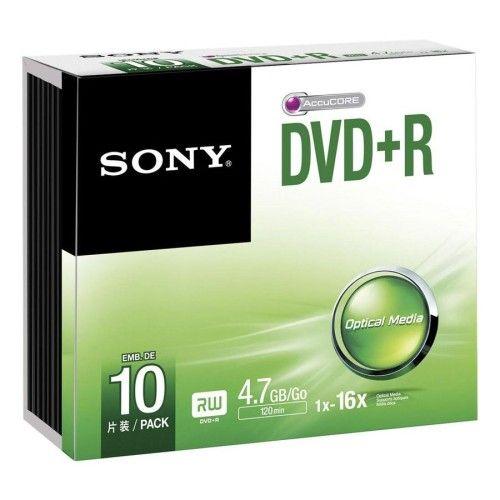 Sony DVD+R 4.7 Go 16x imprimable (par 10, boitier slim)