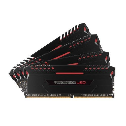 Corsair Vengeance LED Series 32 Go (4x8Go) DDR4 3000 MHz CL16 - Rouge - CMU32GX4M4D3000C16R