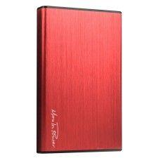 MaxInPower boitier externe USB 3.0 en aluminium brossé pour disque dur 2.5'' SATA III (coloris rouge