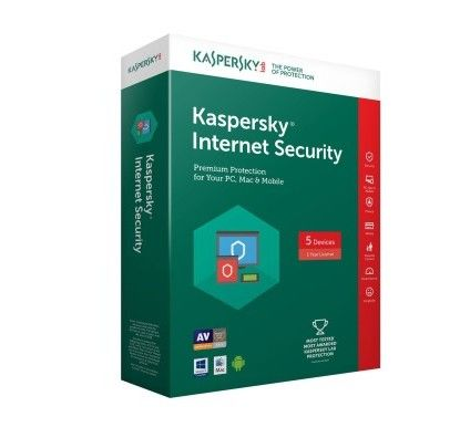 Kaspersky Internet Security 2018 - Licence 5 postes 1 an